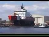 Спуск на воду больших кораблей.